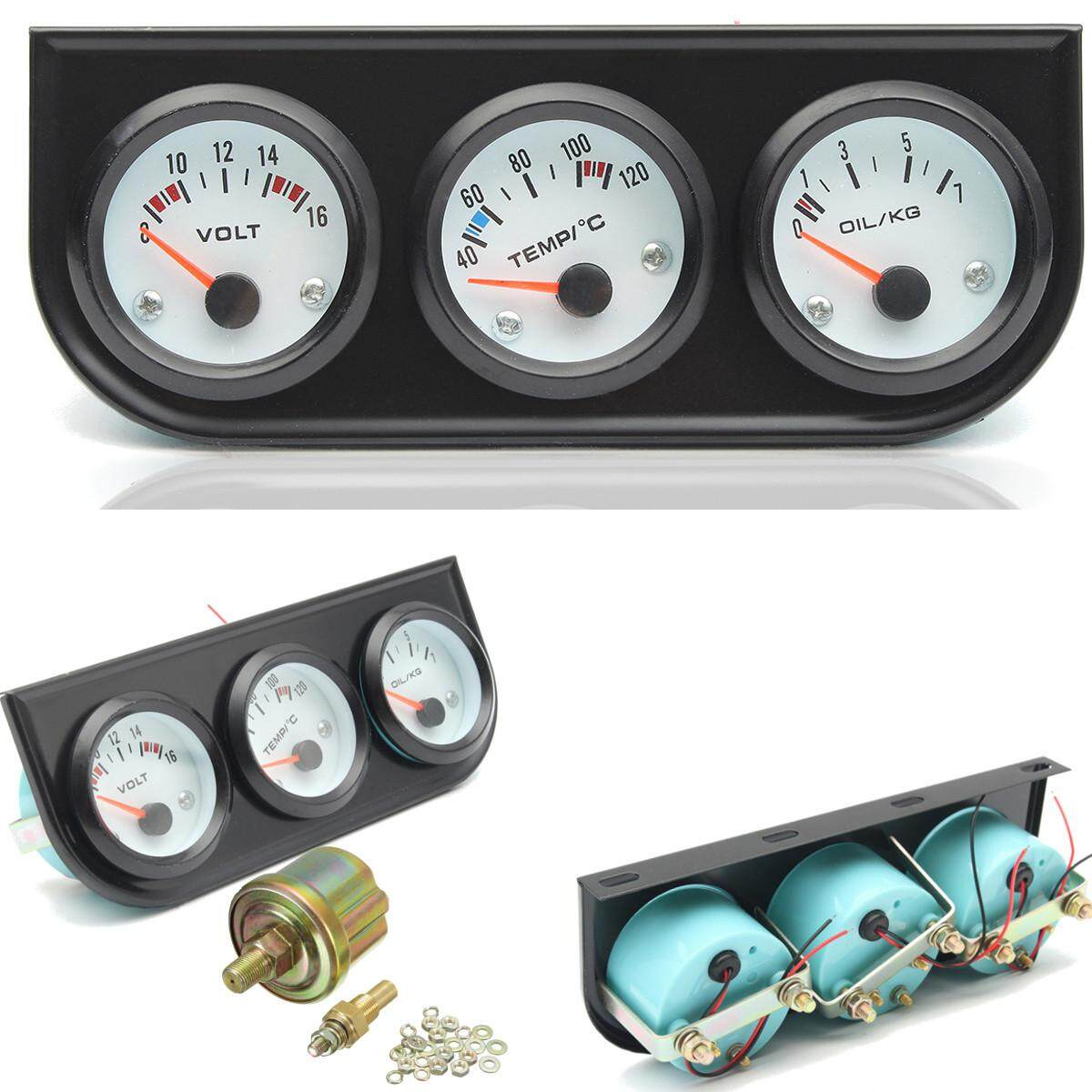 Auto Replacement Parts Car 4 In 1 Lcd Digital Display Voltmeter Water Temp Oil Pressure Fuel Gauge With Temperature Sensor Oil Pressure Sensor To Assure Years Of Trouble-Free Service