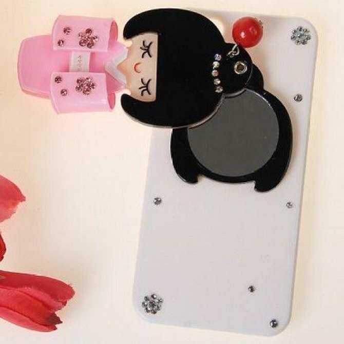 Sang trọng 3D Gương Phong Cách Nữ Ốp Lưng Nhựa Dẻo dành cho iPhone 5 có