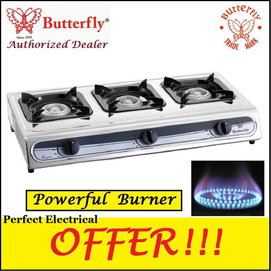 Butterfly Triple Gas stove BGC-3011L ( 2 Year Warranty )