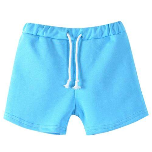 Hot New Fashion Summer Boys Beach Pants Kids Trousers Pretty Candy Color Girls Shorts(Sky Blue,Size:120)