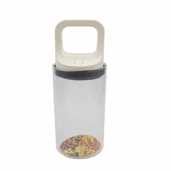 Pull-type Vacuum Glass Sealed Keep Fresh Jar White S