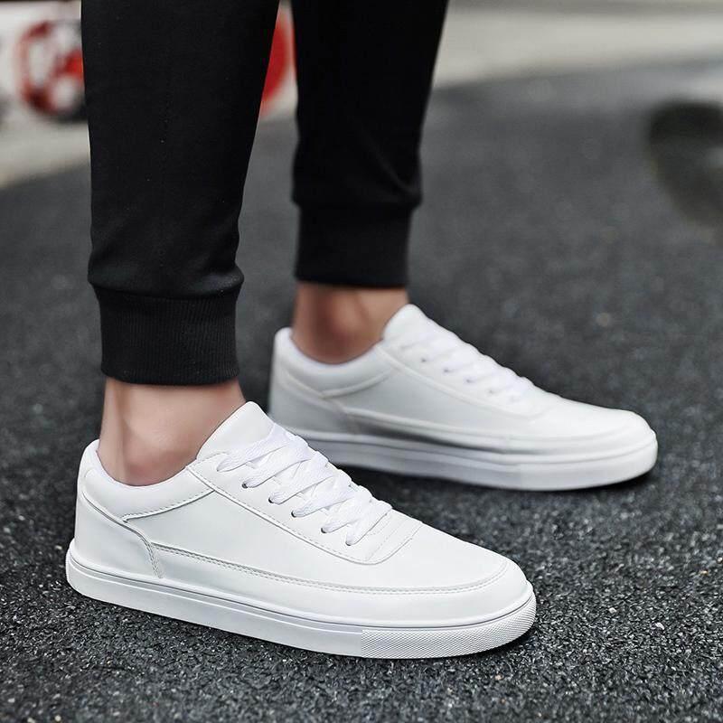 Summer New White Shoes Men Flat White