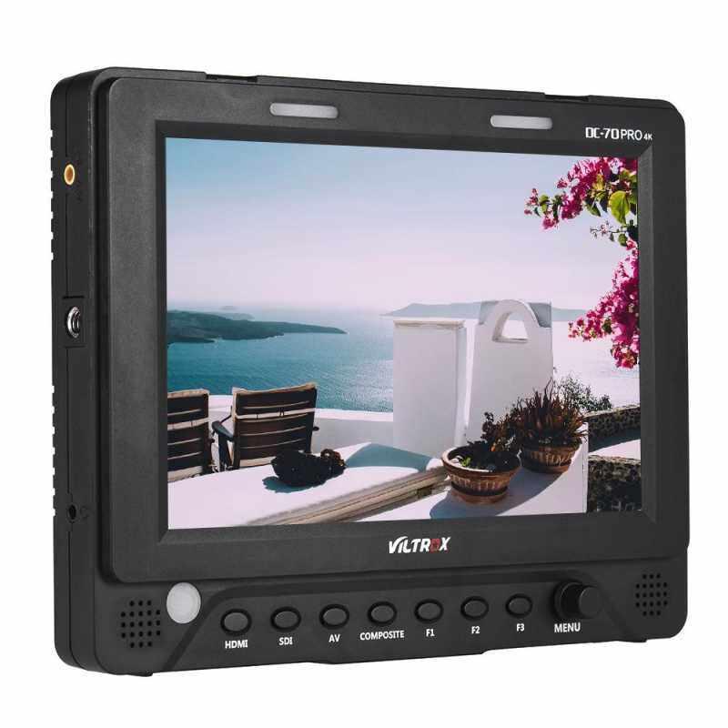 "Microeco Viltrox DC-70 PRO 7"" 1920 * 1200 IPS camera video live monitor support 4K HD/SDI/AV/TALLY IN HD/SDI OUT for Canon Nikon Sony A7 digital SLR camera"