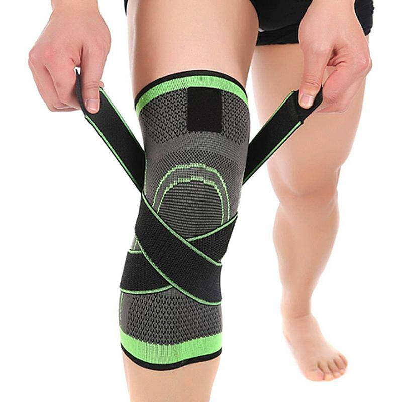 3D weaving pressurization knee brace hiking cycling knee Support Protector Knee pad L