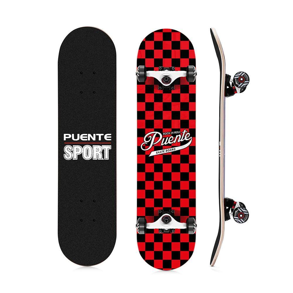 PUENTE 602 ABEC - 9 Four-wheel Double Snubby Maple Skateboard for Entertainment image