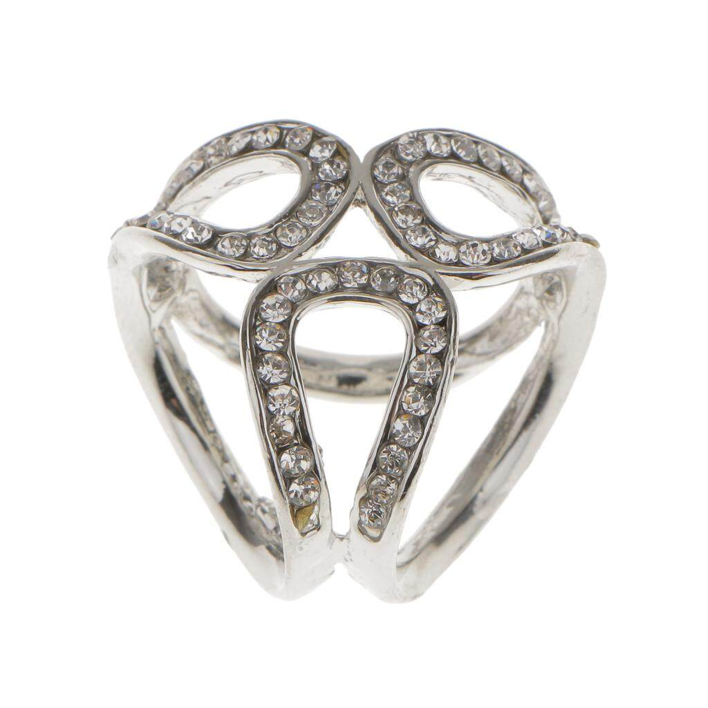 Fashion 3-ring Rhinestone Scarf Ring Clip Slide Buckle Jewelry Gifts Gold Retro & Vintage Costume Jewelry (1930s-1980s) Jewelry & Watches