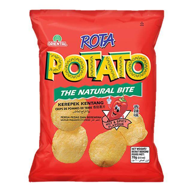 Rota Potato Chips Assorted 1 Poly (12Packs x 70g) (KL & SL Delivery Only)