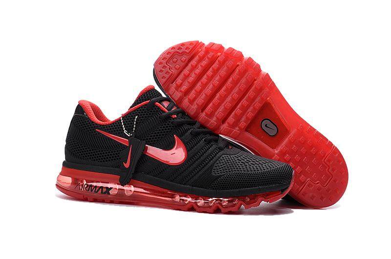 Nike1 Original New Arrival 2017 Air -MAX Women's Running Shoes Lightweight Sneakers (Black/Red)
