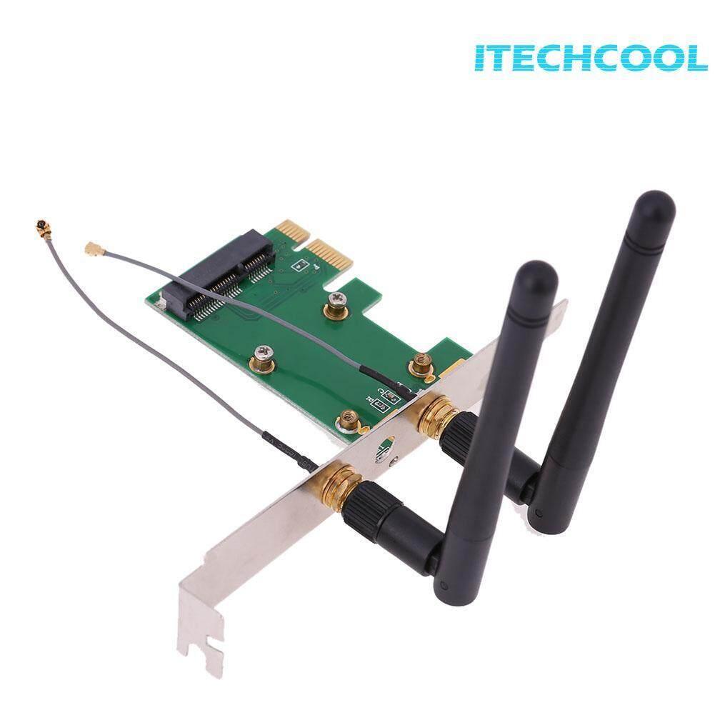 Mini PCI-e to PCI-e Converter Wireless Network Card with External Antenna