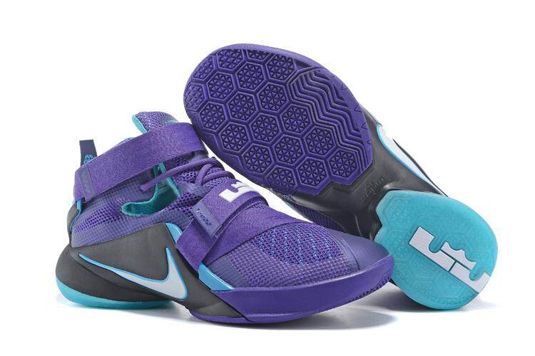 new product 3fed1 ff02d Nike LeBron 9 Men s Classic Basketball Shoes Breathable Training Athletic  Shoe (Purple Blue)
