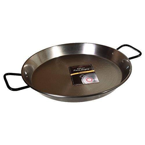 La Paella Garcima 13 1/2-inch Pata Negra Restaurant Grade Paella Pan, 34cm, Silver, Medium