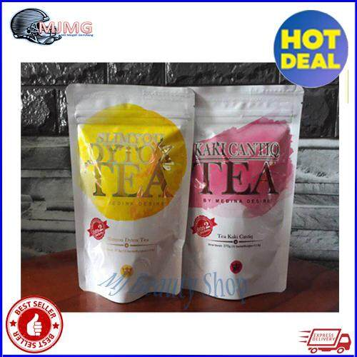 COMBO SET SLIMMING & DETOX TEA + KAKI CANTIQ TEA ~ New Packaging