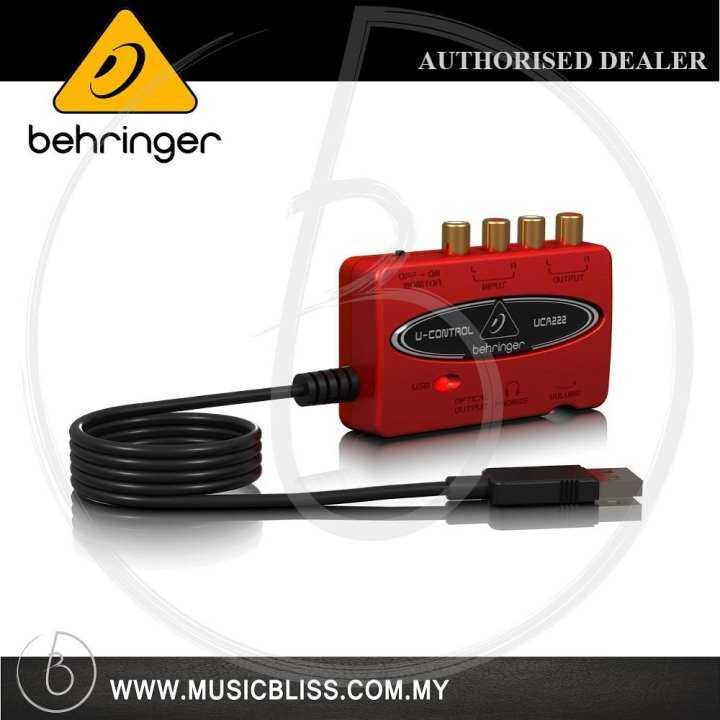 behringer u control uca 222 usb audio interface uca222 lazada. Black Bedroom Furniture Sets. Home Design Ideas