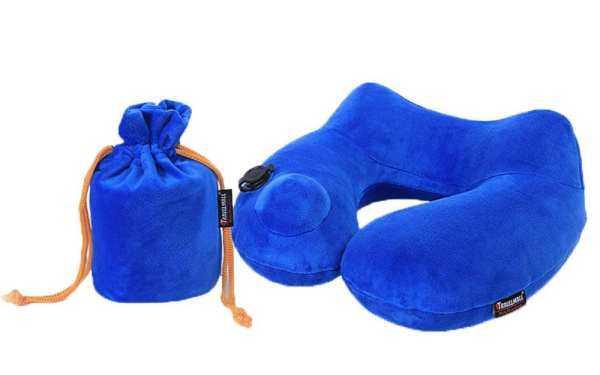 Noion Otomatis Inflatable Portabel Penopang Leher Tidur Tidur Perjalanan untuk Di Bantal