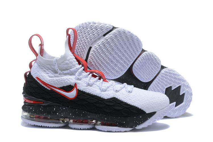 best loved 918e8 650bf Nike LeBron 15 Professional Basketball Shoe Breathable Sports Sneakers  (White/Red)