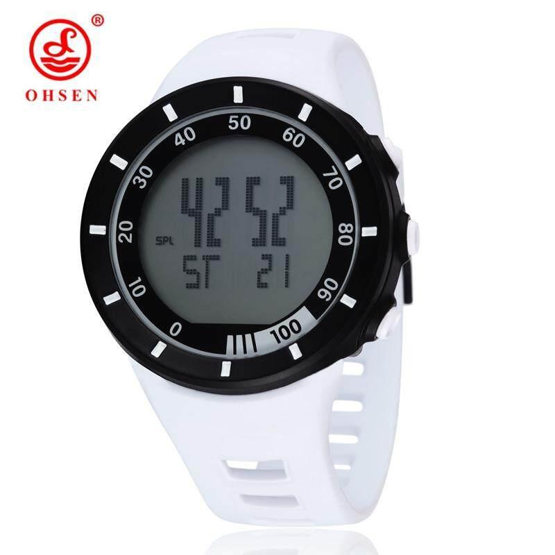 OHSEN 2821 แฟชั่น OHSEN Boys นาฬิกาข้อมือดิจิตอลสำหรับผู้ชายผู้ชาย Hombre นาฬิกากีฬานาฬิกาปลุกวันวันที่ LED Backlight ยางรัดอิเล็กทรอนิกส์นาฬิกาข้อมือ - INTL