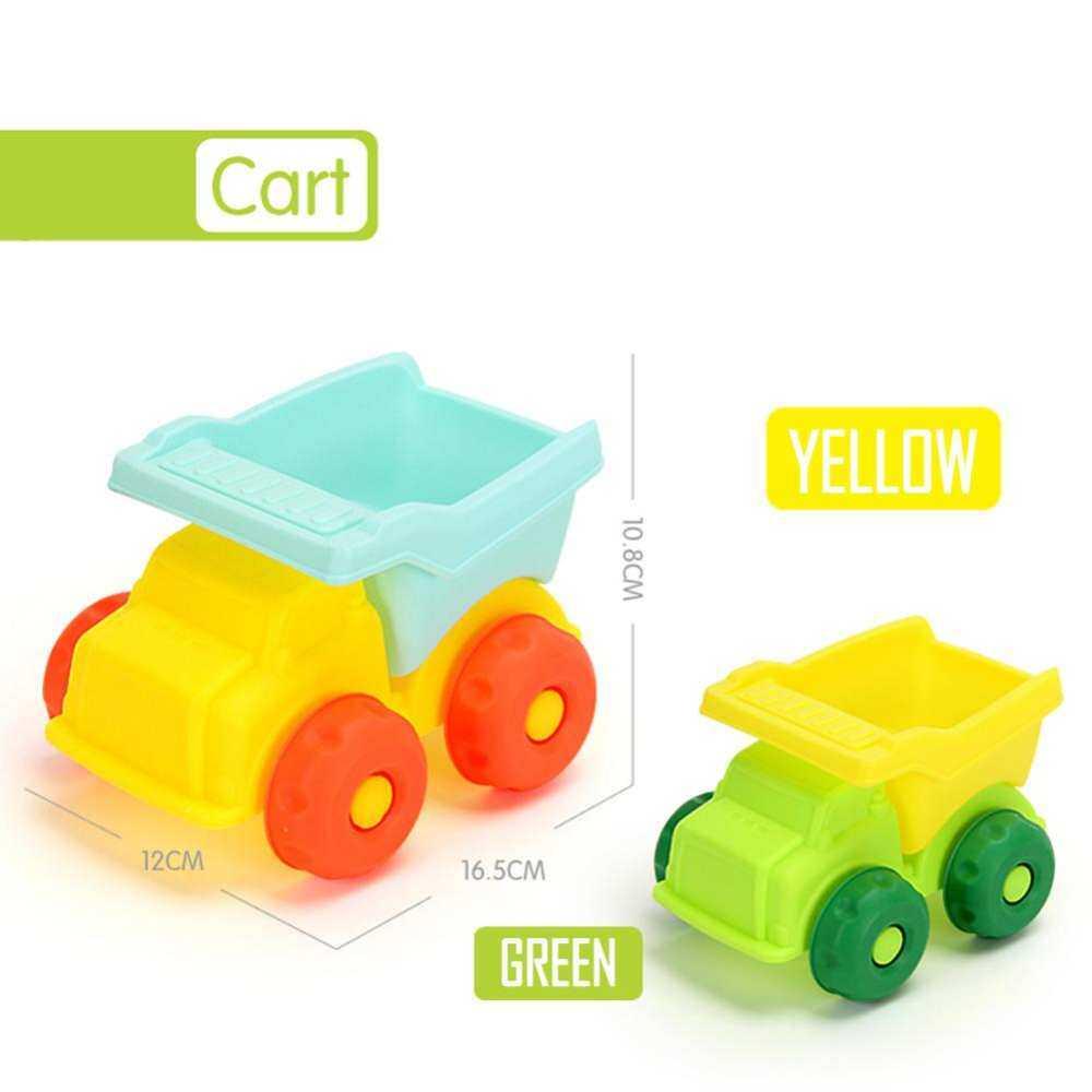 New summer beach cartoon soft rubber toys set play outdoor drowning sand children s