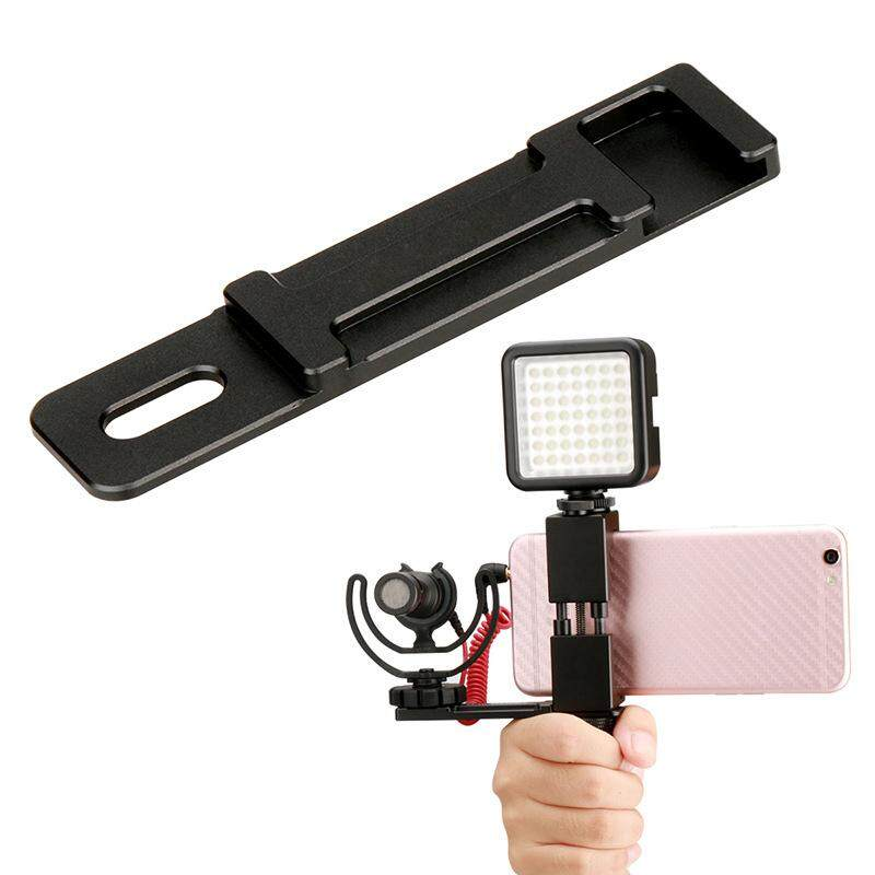 YBC Microphone Cold Shoe Plate Handhold Stabilizer Phone Mount Video Grip Stand for Ulanzi PT-1 - intl