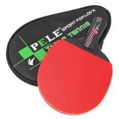 Carbon Fiber Table Tennis Racket Ping Pong Paddle Bat Long Short Handle With Bag Straight grip