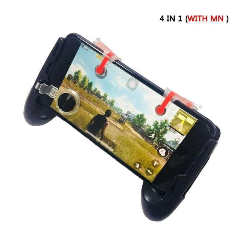 PUBG fire key 4 in1 gamepad with MN triggler fit for smartphone joystick .