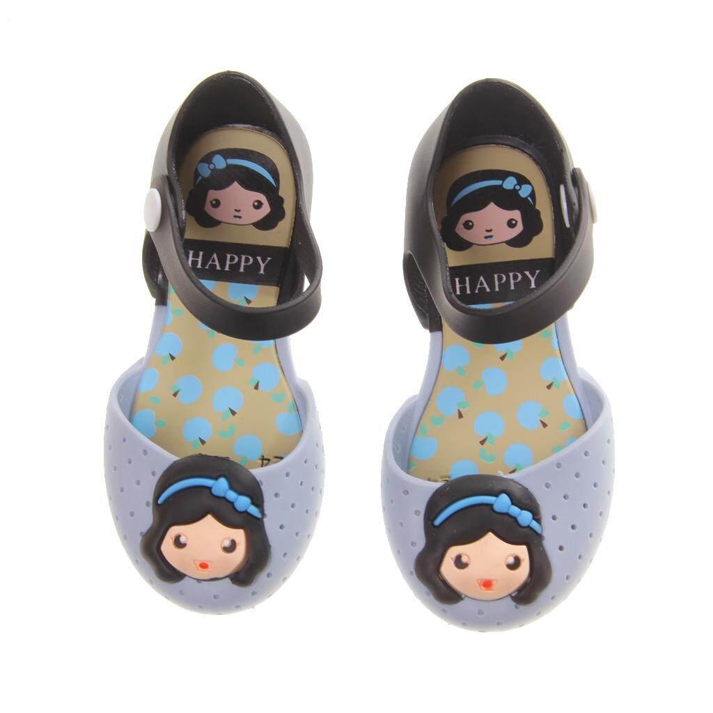 MagiDeal Baby Girls Jelly Shoes Princess Flat Sandals Beach Rain Shoes Blue 29 - intl