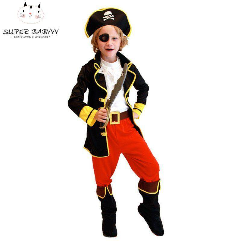 SBY Party Pirate Boy girl Clothing Halloween Costume Kids Children Christmas Costume for Capain Jack Cosplay