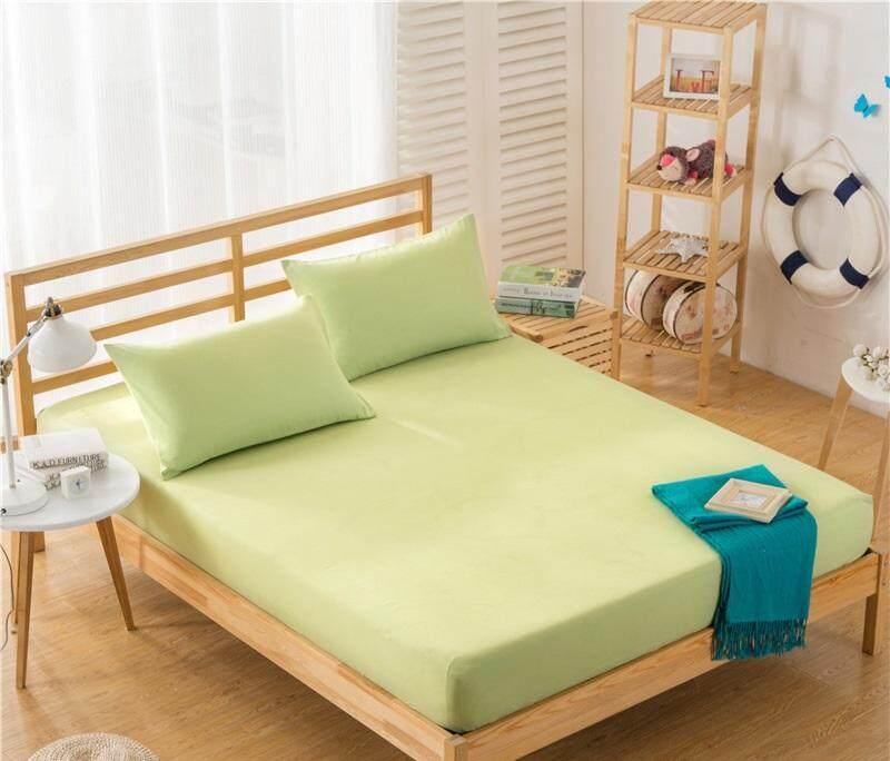 Warna-Warni Kasur Non-slip Sarung Polos Warna Tempat Tidur Pelindung Kasur (Tanpa Sarung Bantal)