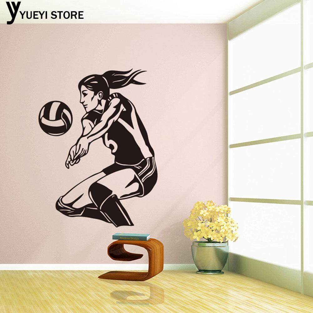 YYSL Decal Volleyball Wallpaper Sport Black Wall Decorative Home Decor