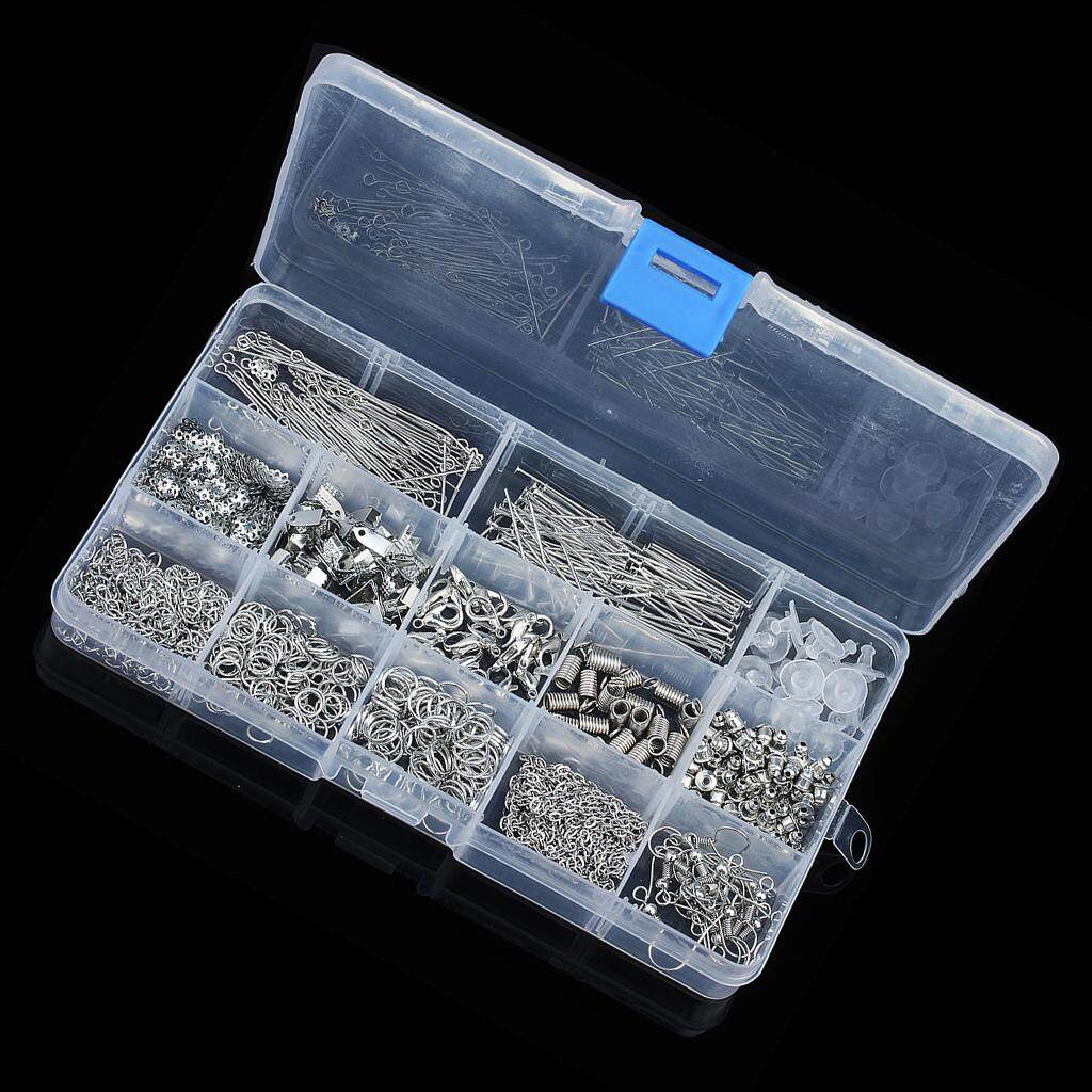 580pcs Jewelry Findings Kit Lobsters Clasps Jump Rings for Jewelry Making in Box