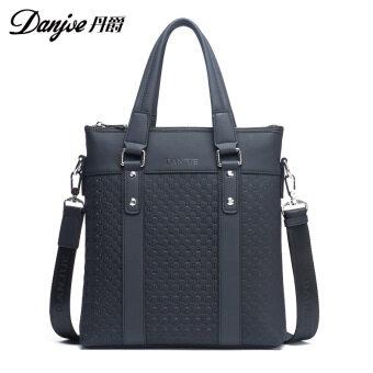 Dan Jue Embossing Fashion Business Vertical Handbag Men's Shoulder Diagonal Package