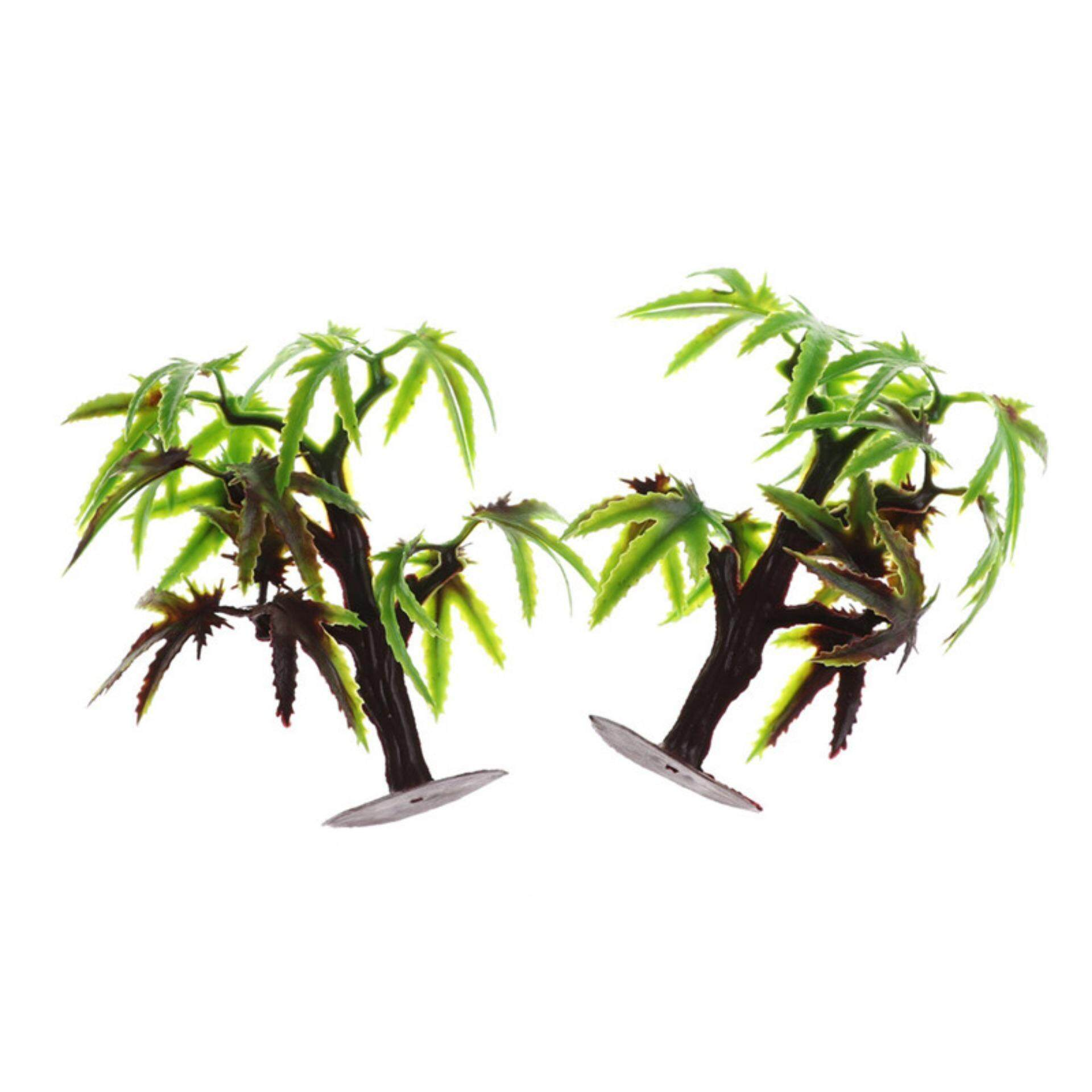 2pcs Dollhouse Mini Maple Tree Sand Table Model Micro Landscape Decor