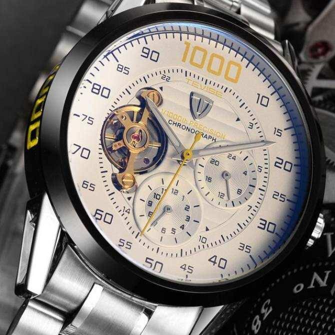 Luxury Mens Watch Top Brand Luxury TEVISE Automatic Tourbillon Mechanical Watch Sport Military Relogio Automatico Masculino Malaysia