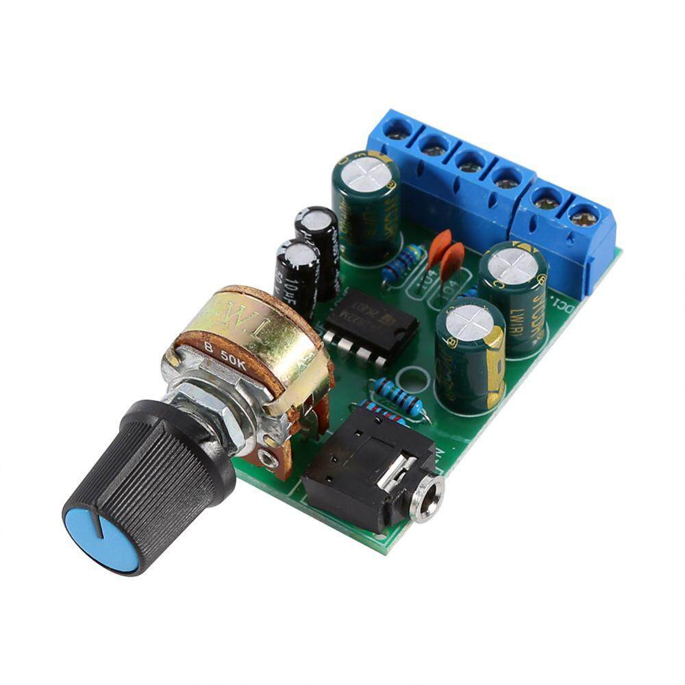 Mini Stereo Power Amplifier Using Tda2822 Circuit Schematic