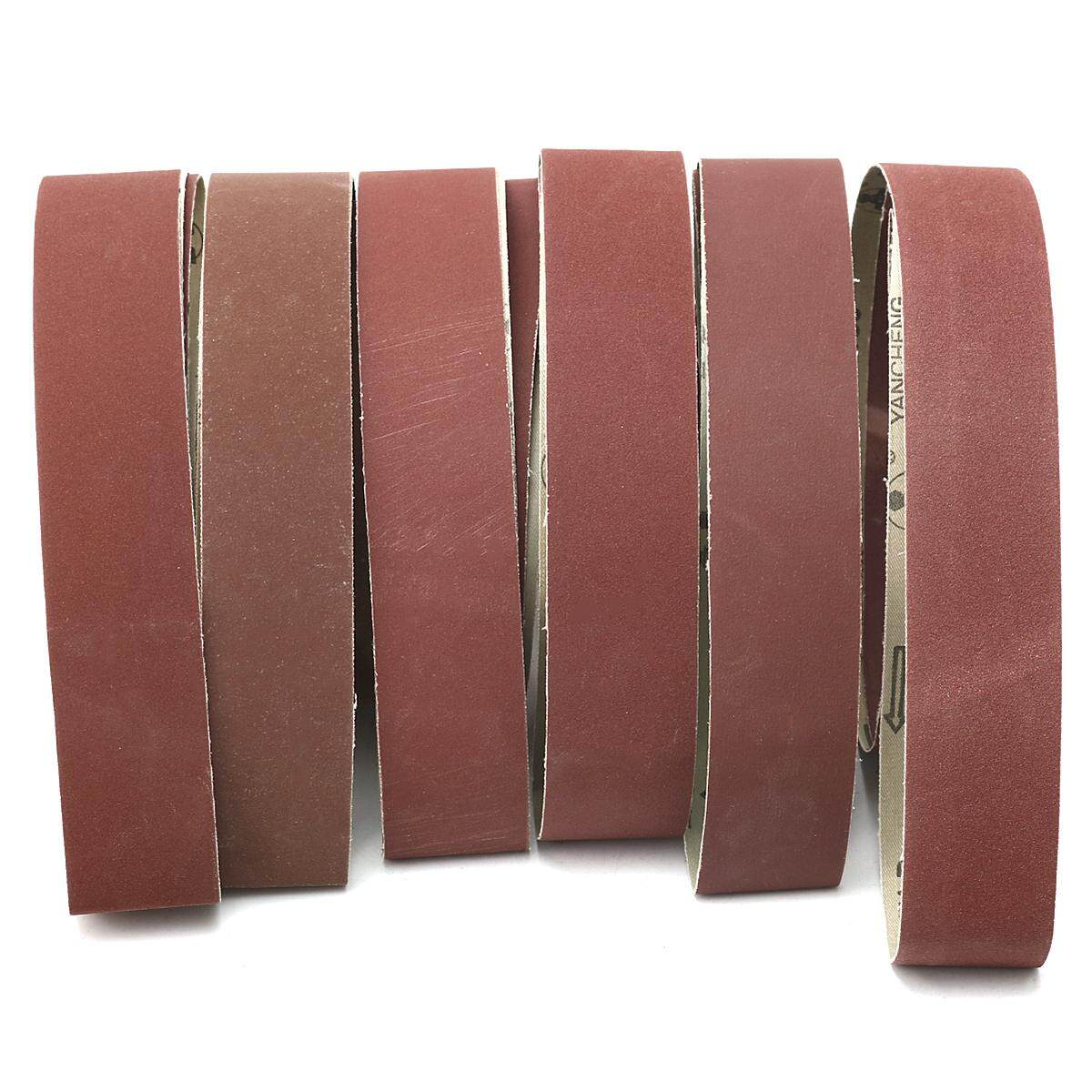 180,240,320,400,600,800 Grits 2 X 72 Inch Aluminum Oxide Sanding Belts 6PCS