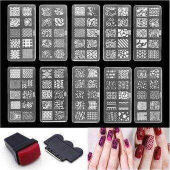 Nail Art Stamp Stencil Stamping Template Plate Set Tool Stamper Design Kit White 6*12cm