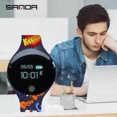 SANDA IOS Android Smart Watch Waterproof IP65 Bluetooth Sport Smartwatch Men Women Watches Fingerprint Boot reloj inteligente SD02