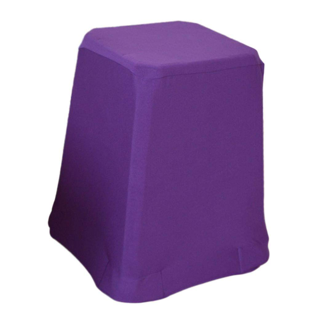 Bolehdeals Home Bar Stool Covers Chair Seat Cover Long Protector Sleeve Purple