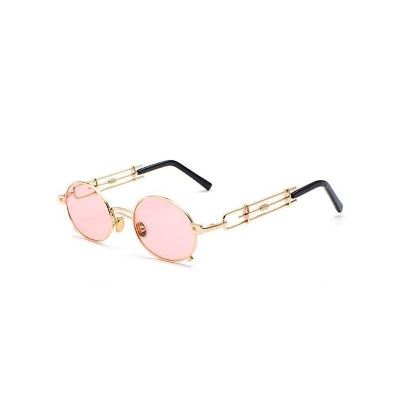 Steampunk Sunglasses Men Women Metal WrapEyeglasses Round Shades Brand Designer Sun Glasses Mirror High Quality UV400 JH0361
