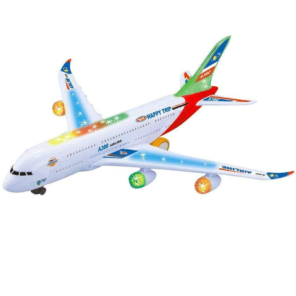 Anak-anak Pesawat Elektrik Mainan Pesawat Simulasi Mainan Jet dengan Lampu Pendar & Suara Mesin
