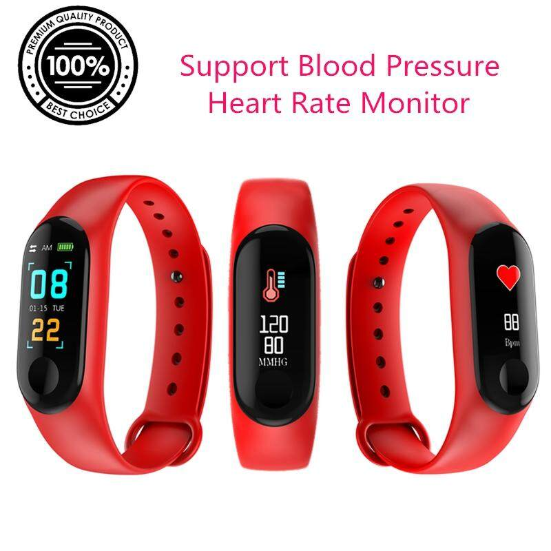M3 Color Screen Sport Smart Wristband Support Blood Pressure / Heart Rate Monitor