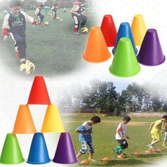 1Pcs Witches Hat Slalom Cones Marker Safety Colors For Skatingfootball Soccer Red