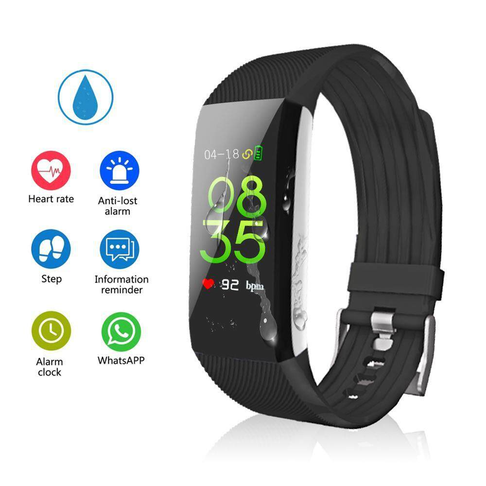 niceEshop Colorful Screen Fitness Tracker, Activity Tracker With Pedometer Blood Pressure Heart Rate Monitor IP67 Waterproof Step Calorie Distance Tracker Call SMS SNS Remind For Men Women Kids Android IPhone