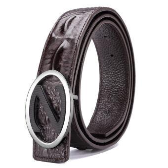 Belt Men 's Leather Fashion Youth Trend Belt Crocodile Pattern Buckle Belt