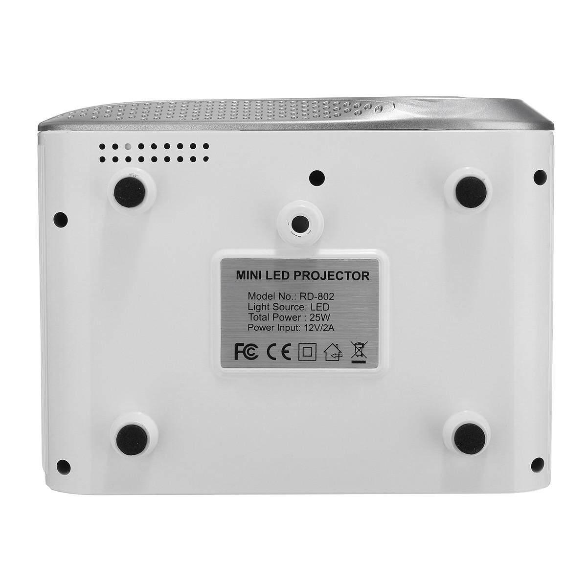 Bessky 3D Full HD 1080 P Máy Chiếu Mini Projector LED Đa Phương Tiện Rạp Hát Tại Nhà USB VGA HDMI TV AV Đa Chức Năng