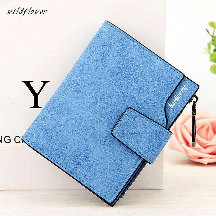 Women Short Wallet Leather Small Zipper Mini Wallet Lady Clutch Purse for Valentine's Day, Present