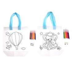 Children Graffiti Painted Bag Environmental Protection Handbag Painting Toy One Size – intl