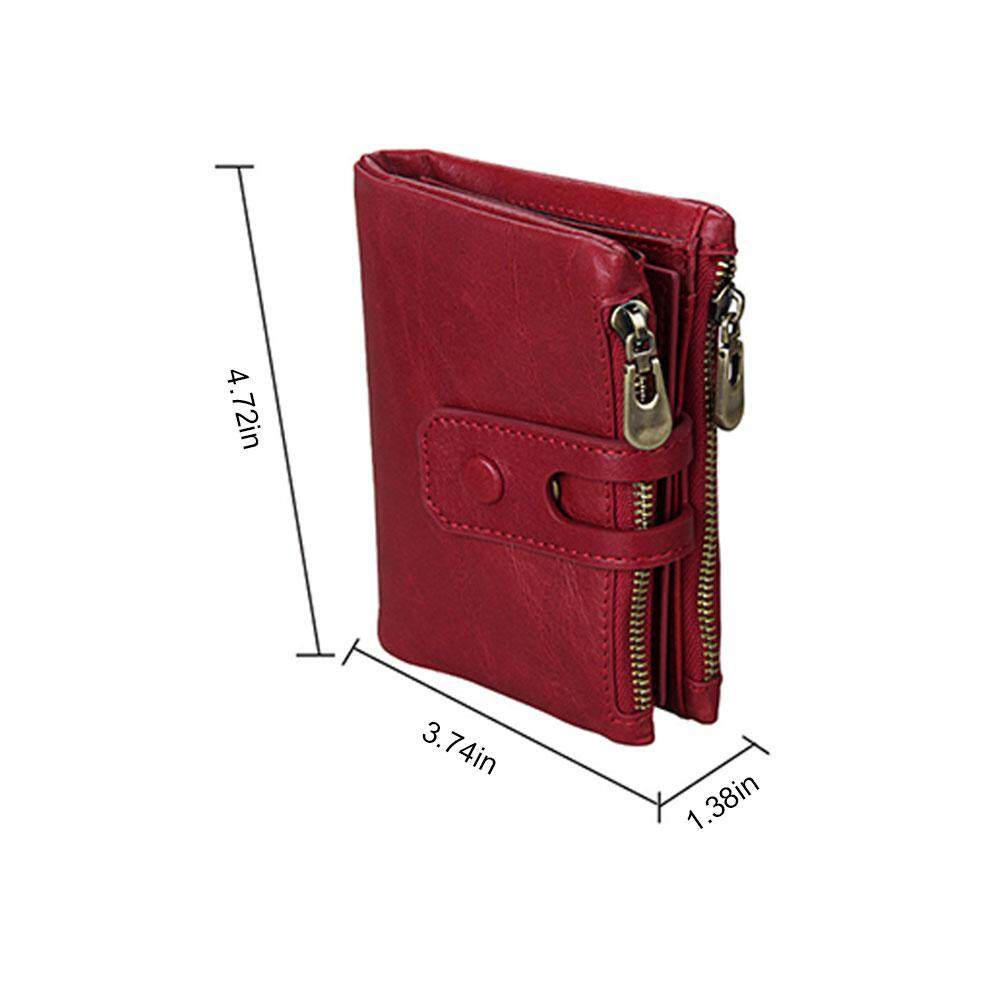 RFID head layer leather wallet theft anti 2018 men new style wallet anti