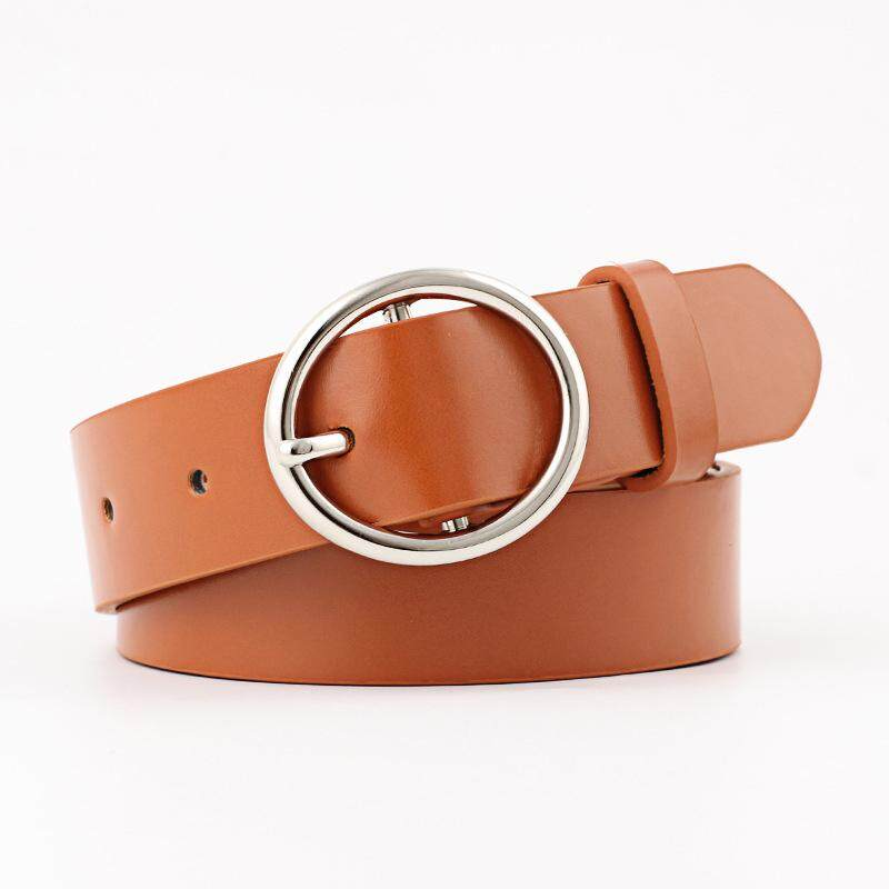 Amart Fashion Women PU Leather Belt With Alloy Buckle Waist Belts for Jeans Pants
