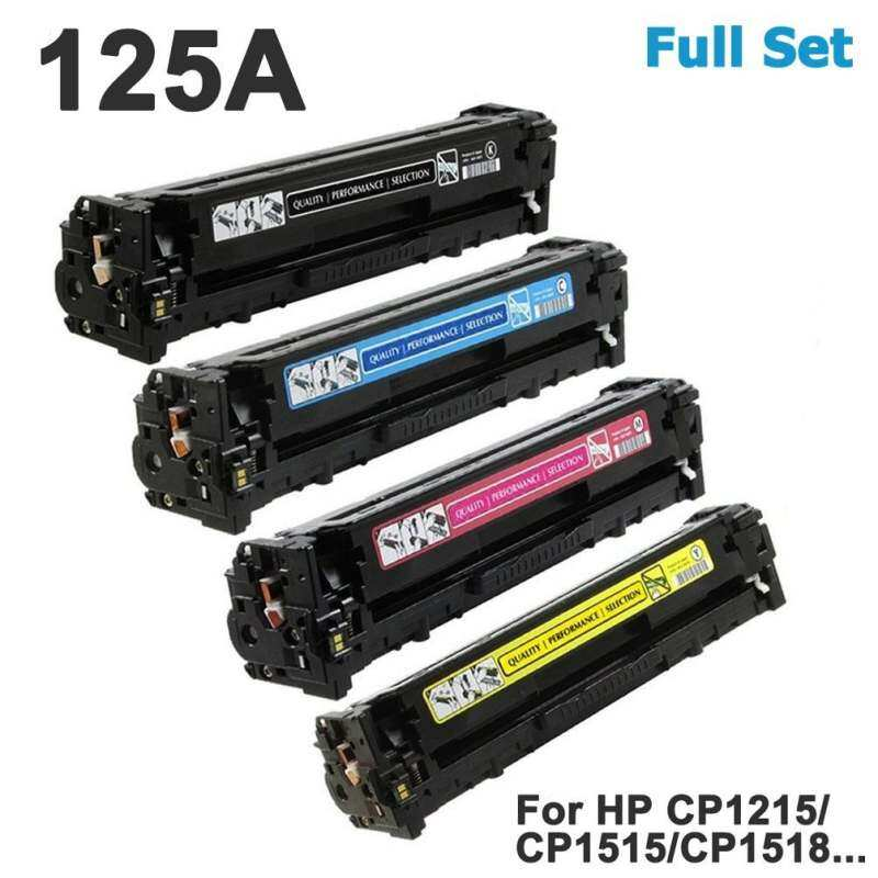Vileed 125A 4-pack For HP CB540A CB541A CB542A C543A BK C M Y Full Set Colour Laser Toner Print Cartridge CB540 CB541 CB542 CB543 for HP Color LaserJet CP1210 CP1215 CP1217 CP1510 CP1514 CP1515n CP1515 CP1518ni CP1518 CM1300 CM1312 CM1312nfi MFP Prin