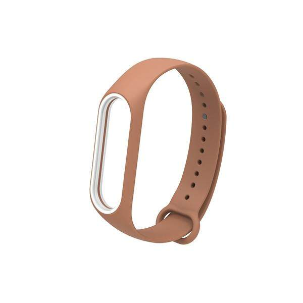 Fashion Replacement Silicone Wriststrap for Miband 3 Xiaomi 3 Smart Bracelet (Coffee No. 9)